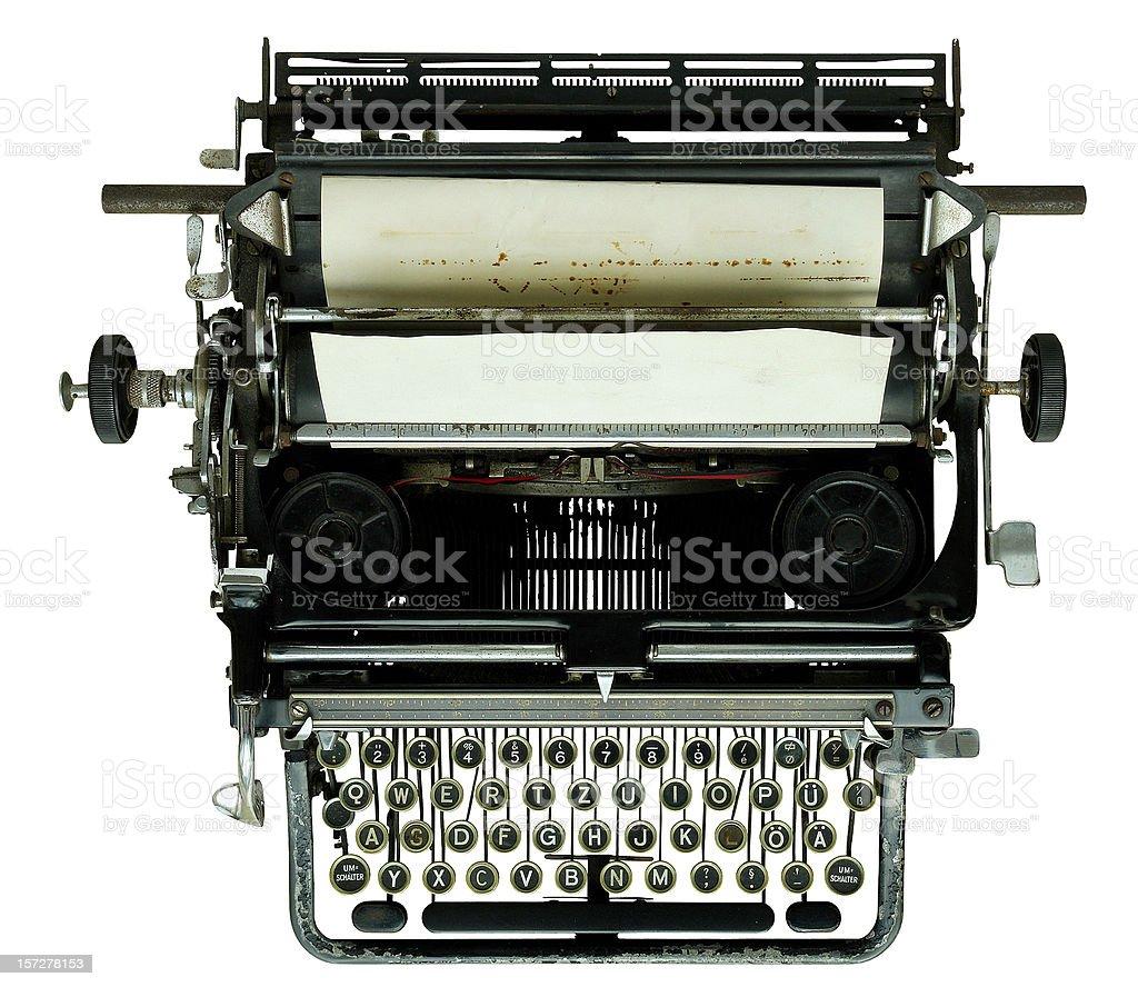 Old Typewriter (+ path) royalty-free stock photo