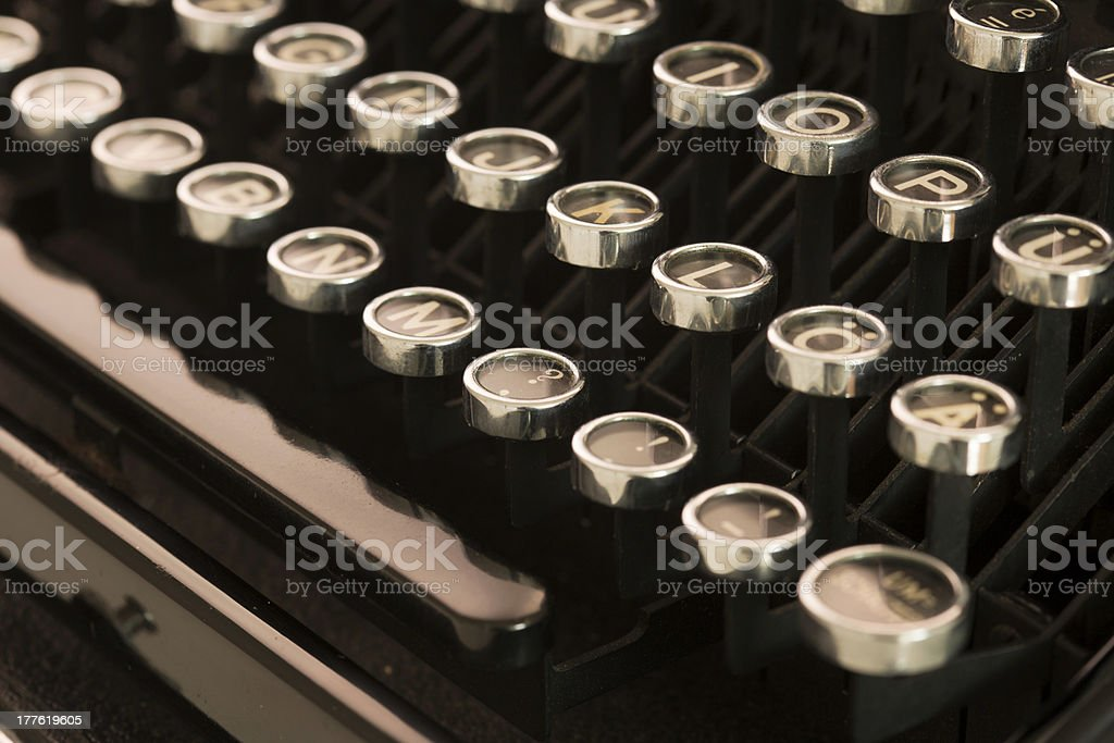 old typewriter royalty-free stock photo