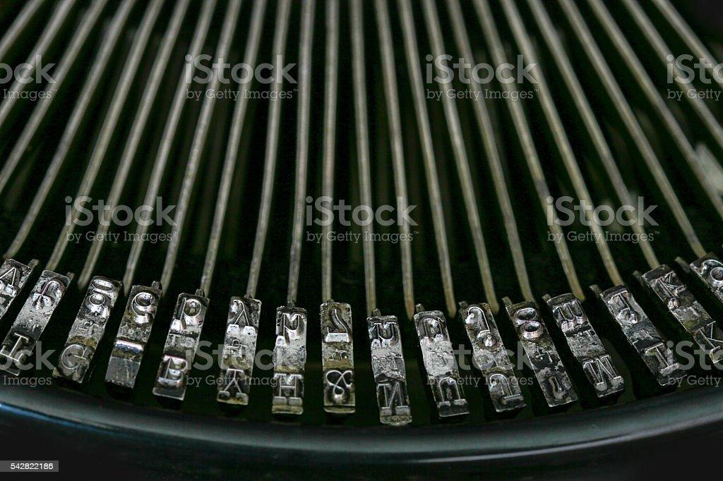 Old typewriter stock photo