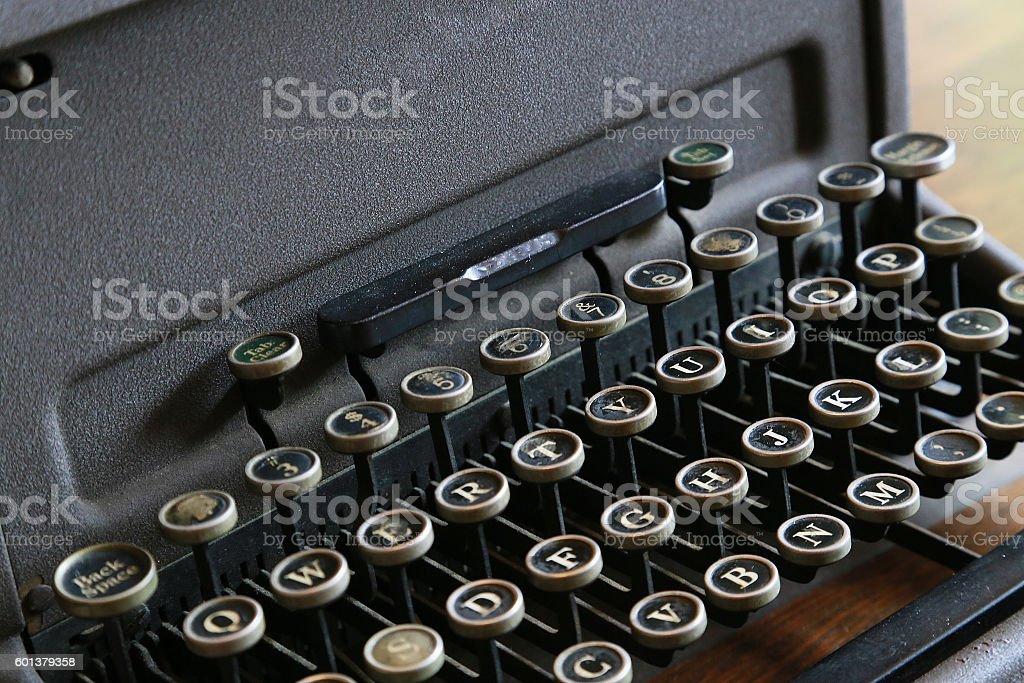Vieja máquina de escribir  foto de stock libre de derechos