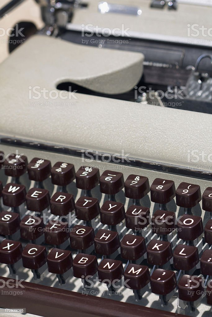 Old Typewriter Vt royalty-free stock photo