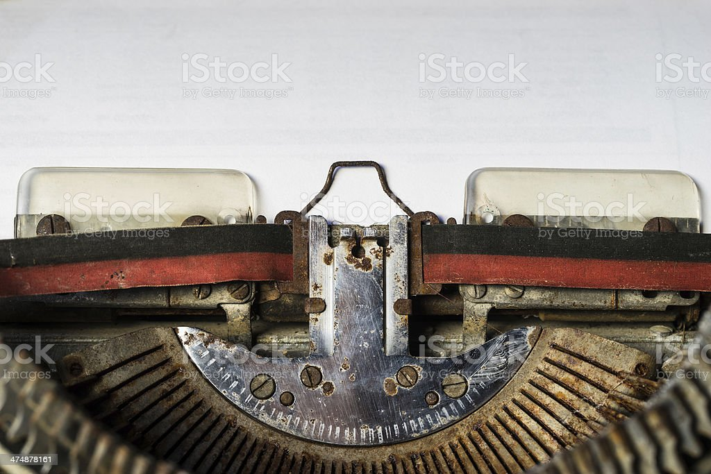 old typewriter with paper royalty-free stock photo