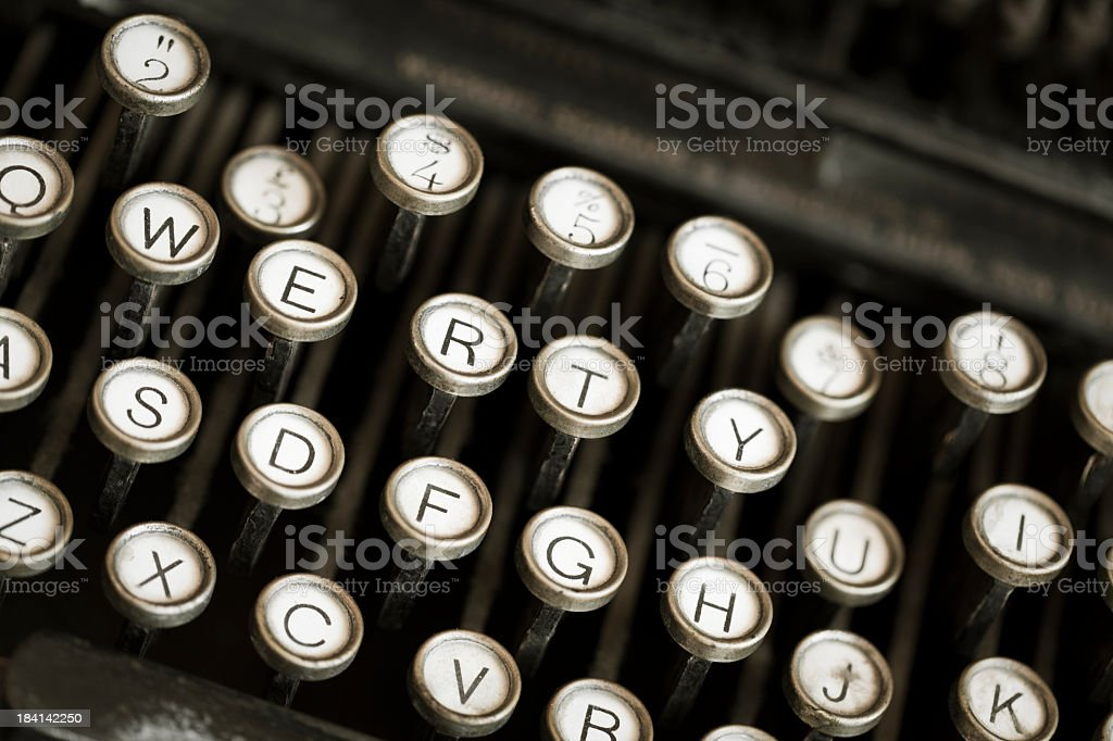 Old typewriter with shallow depth of field royalty-free stock photo