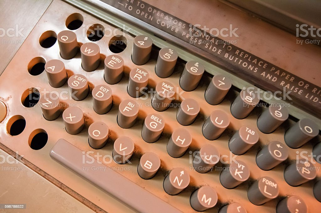 Old typewritter stock photo