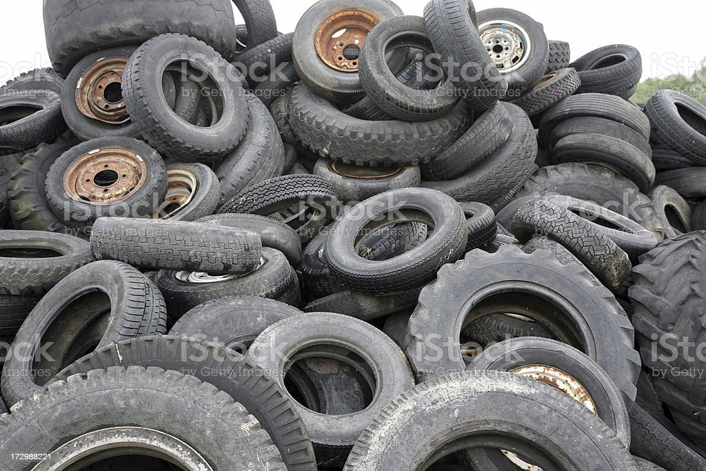 old tyres stock photo
