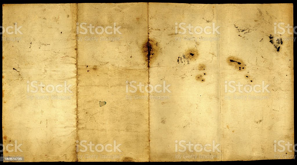 old unfolded paper royalty-free stock photo