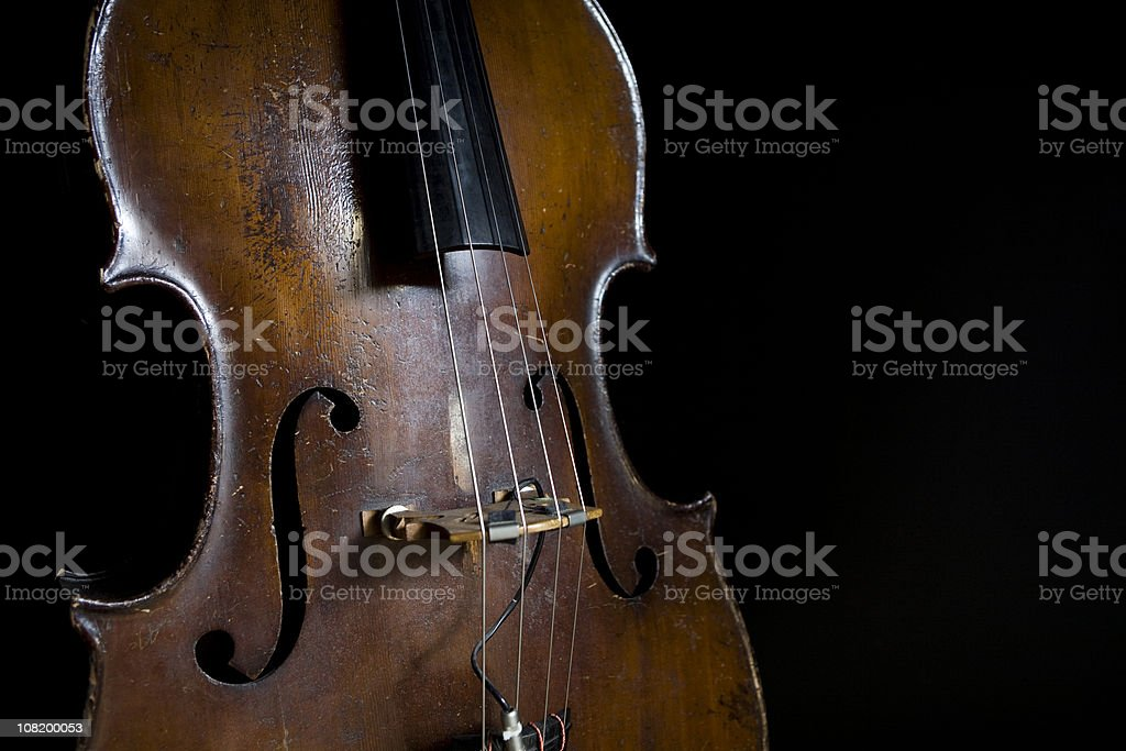 Old Upright Bass stock photo
