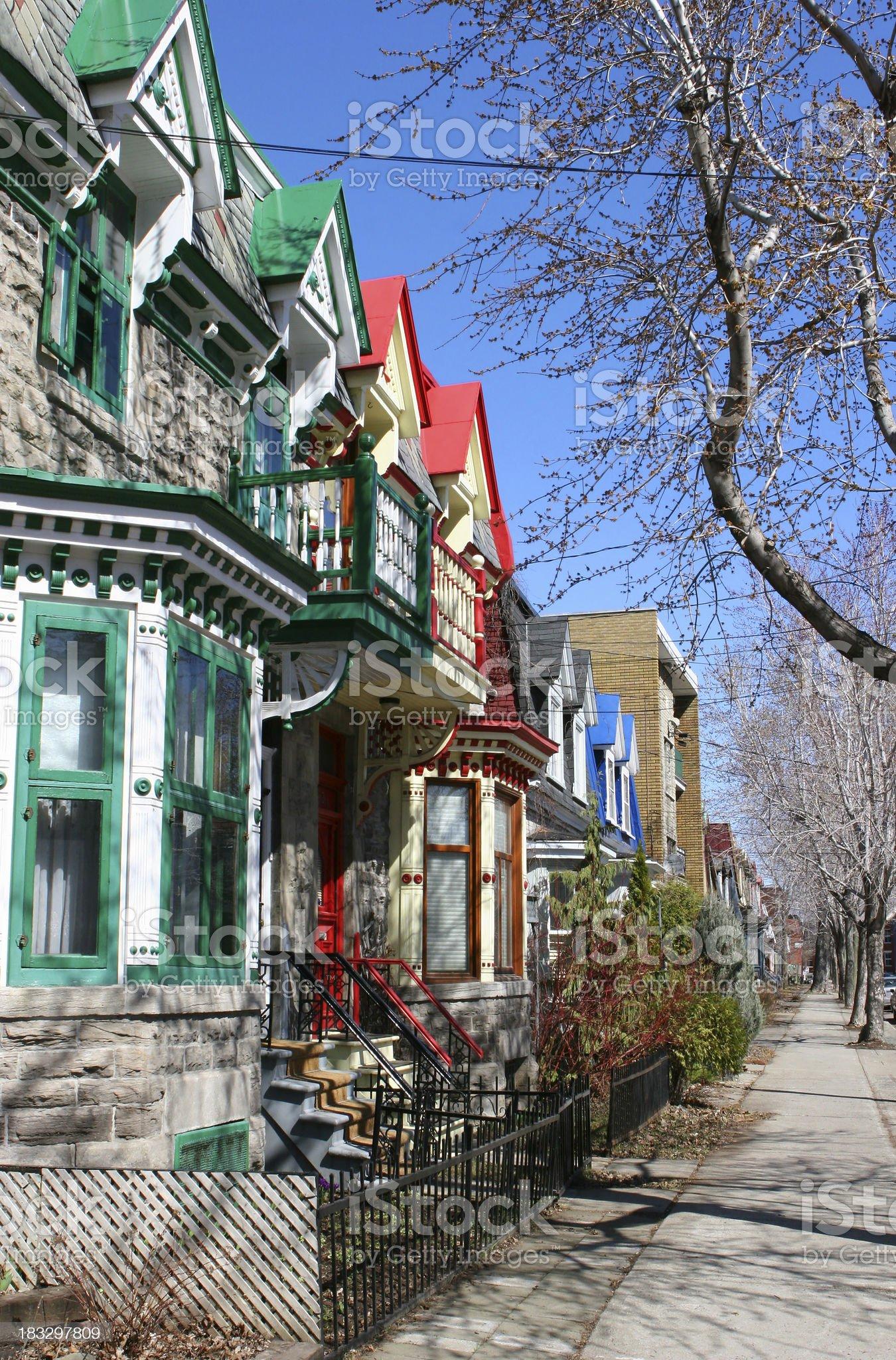 Old Urban Neighborhood royalty-free stock photo