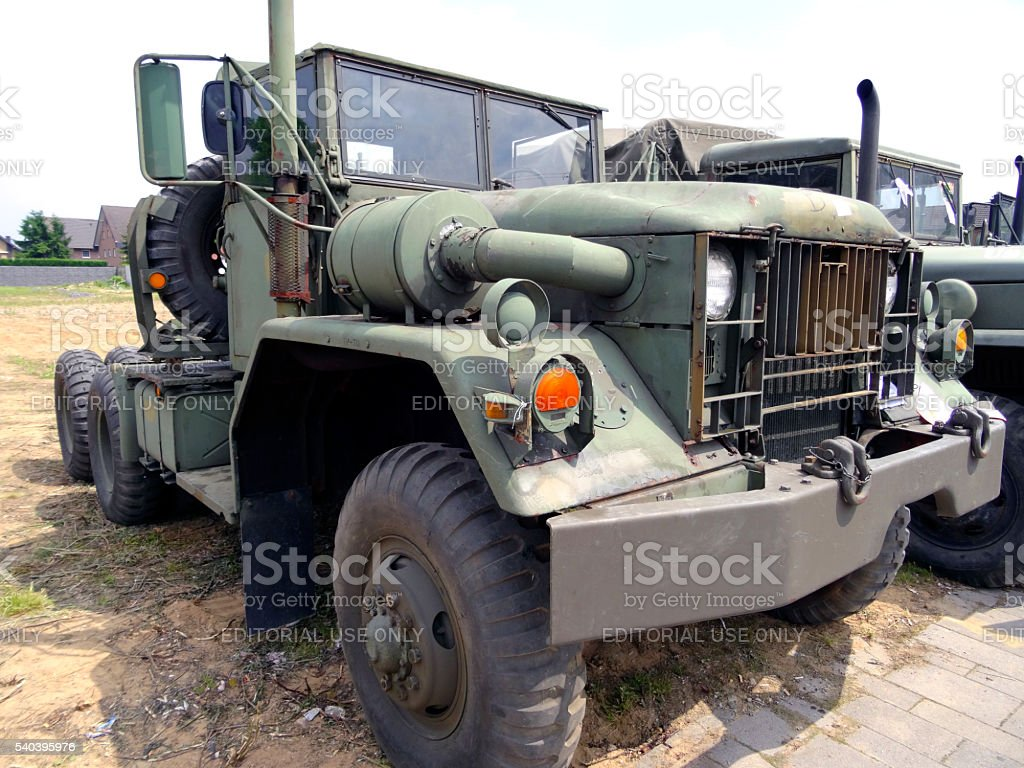 Old US Army Trucks stock photo