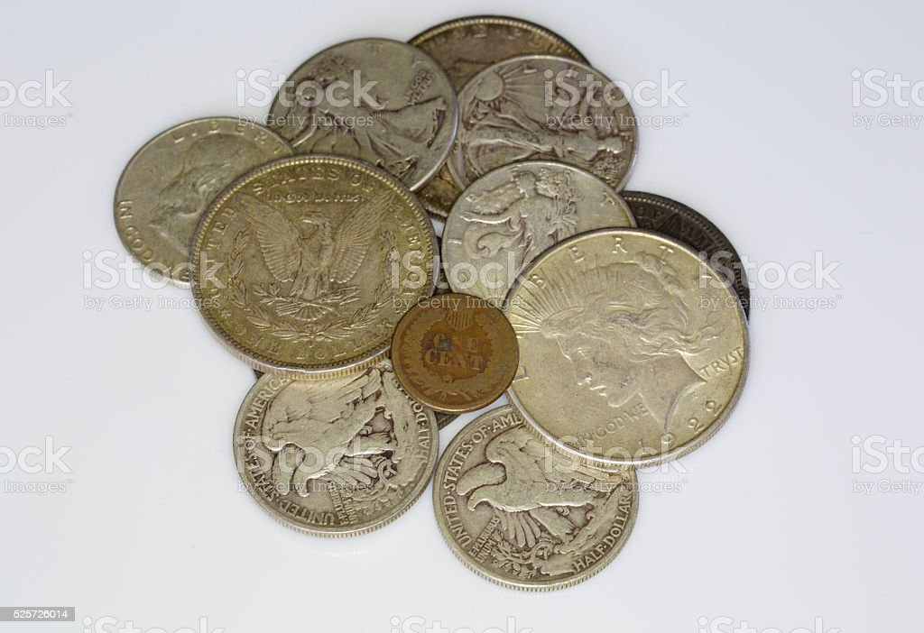 old US coins stock photo
