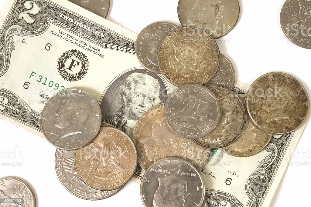 Old US Currency stock photo