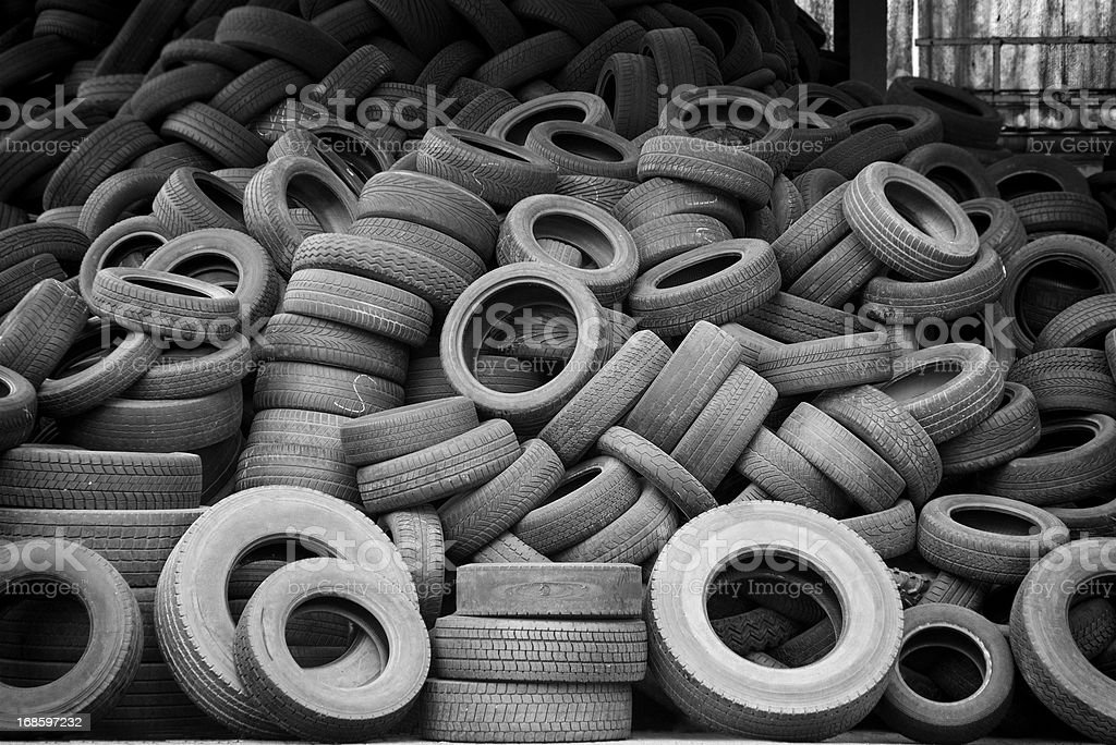 Old used car tires royalty-free stock photo