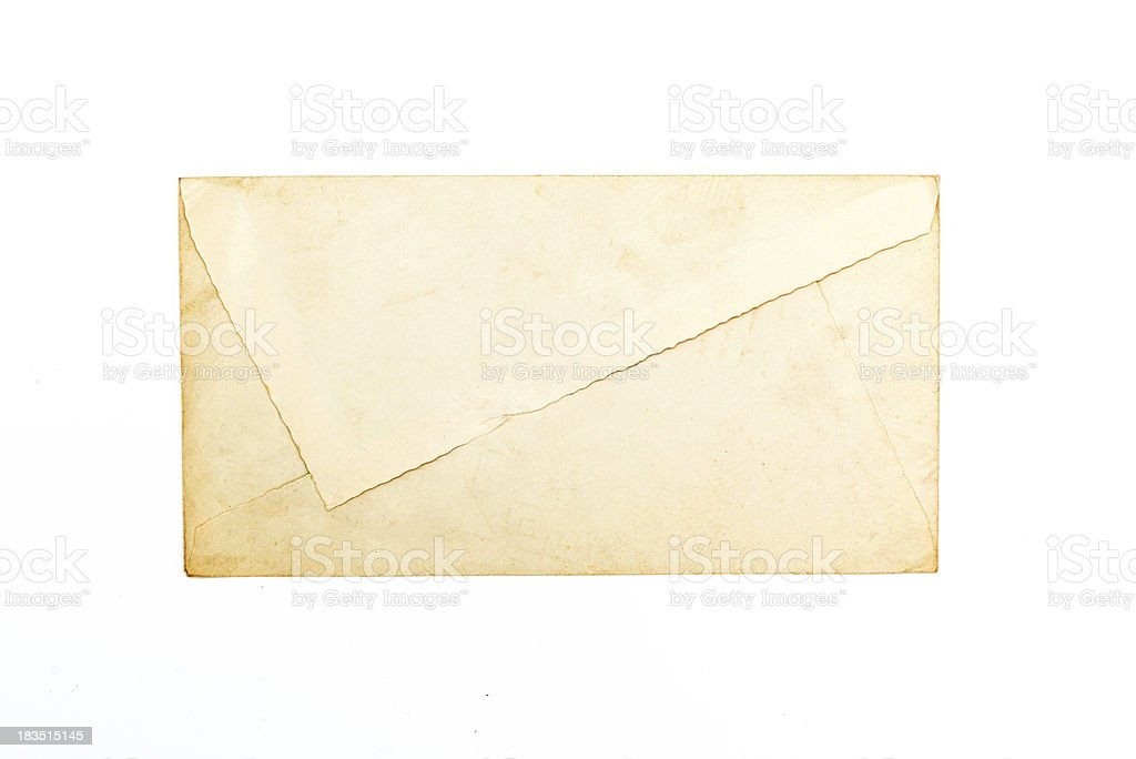 Old used design envelope royalty-free stock photo