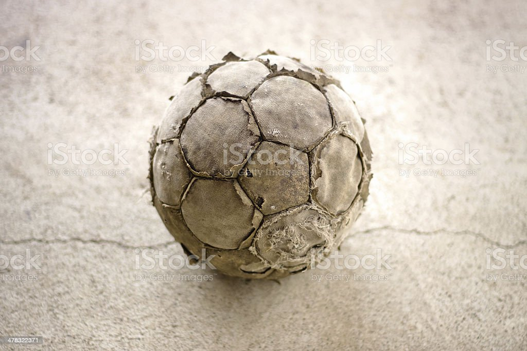 Old used football royalty-free stock photo