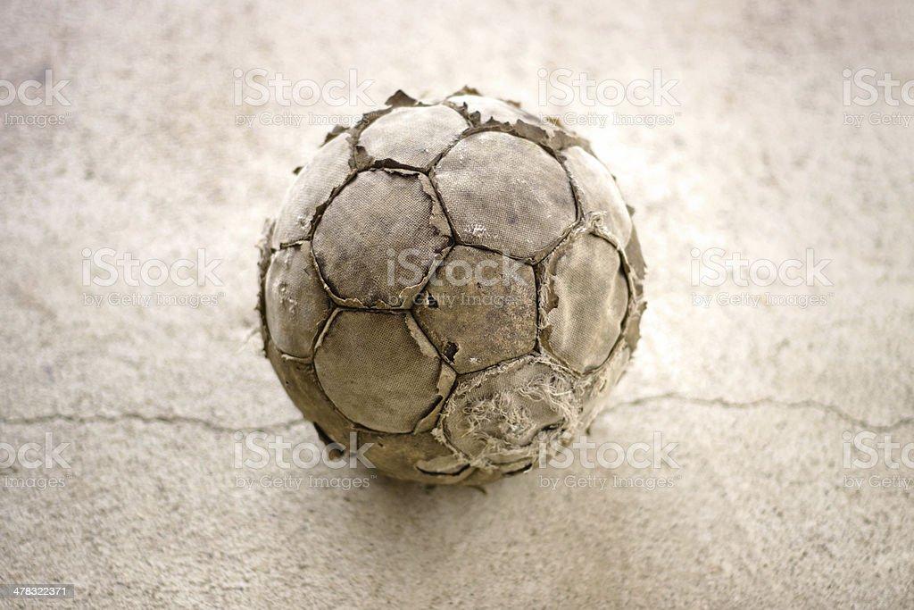 Old used football stock photo
