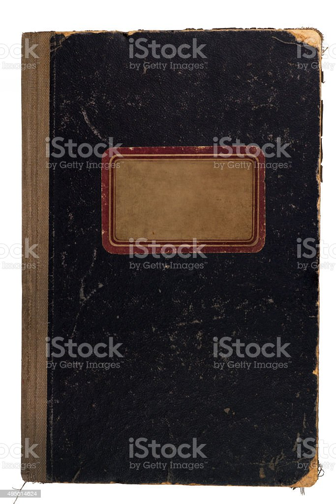 Old, used notebook stock photo