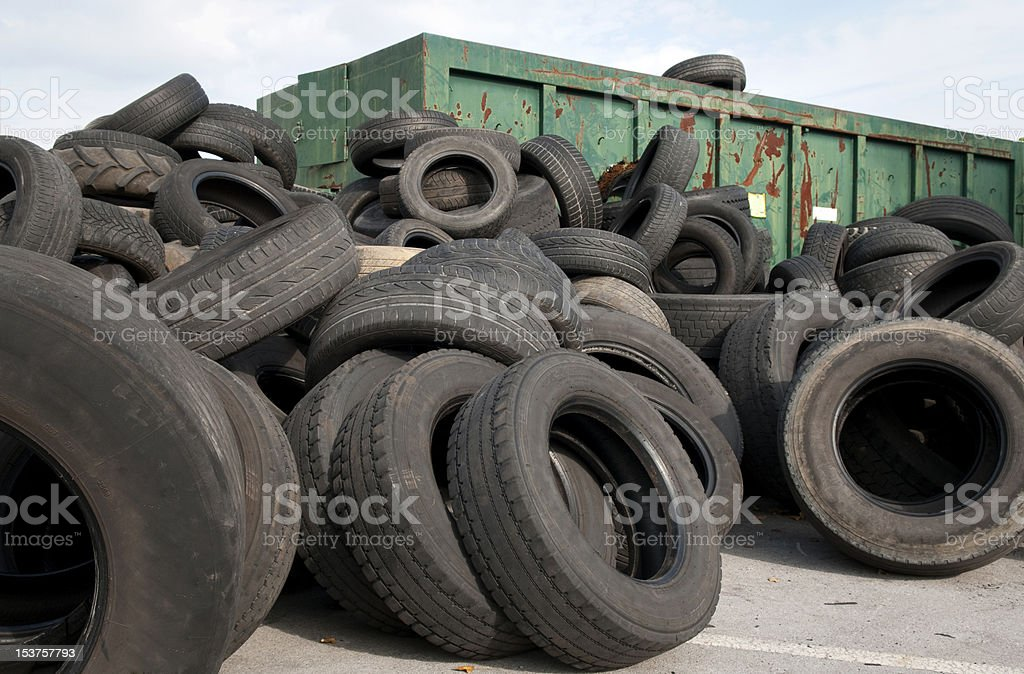old used tires royalty-free stock photo