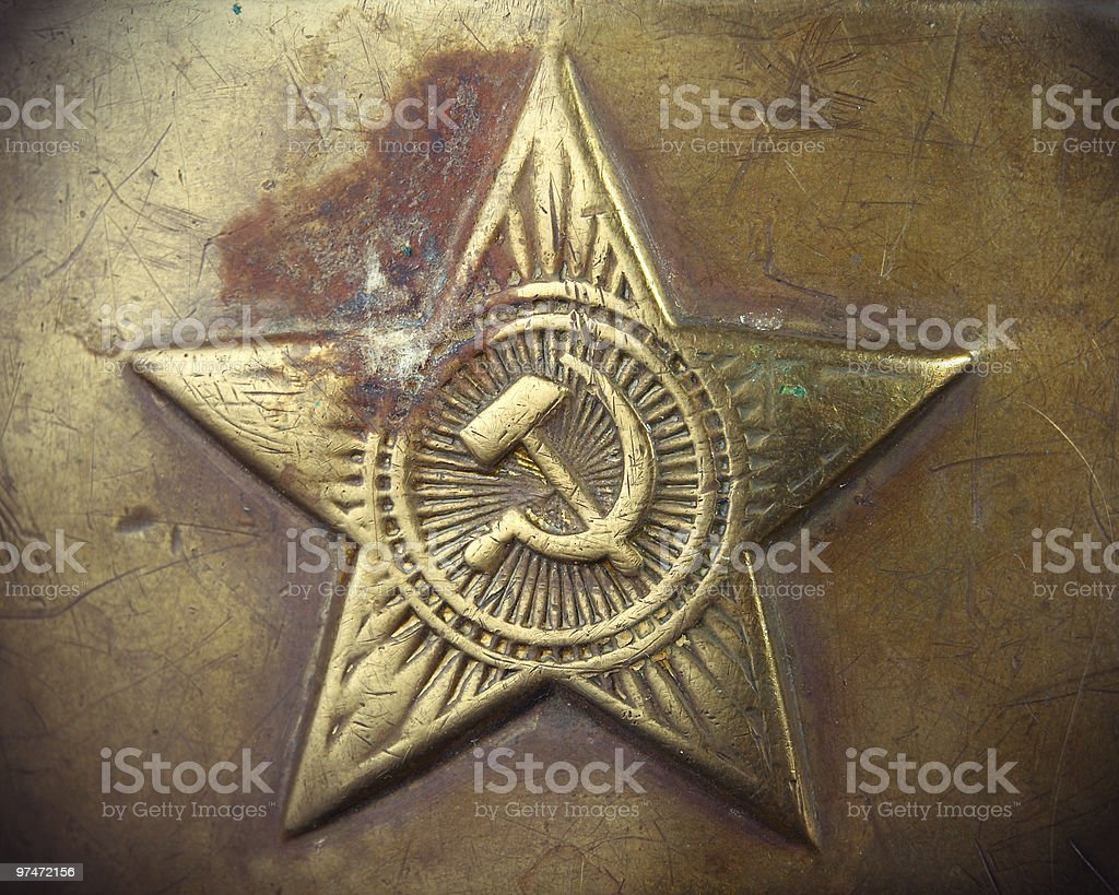 old USSR army emblem stock photo