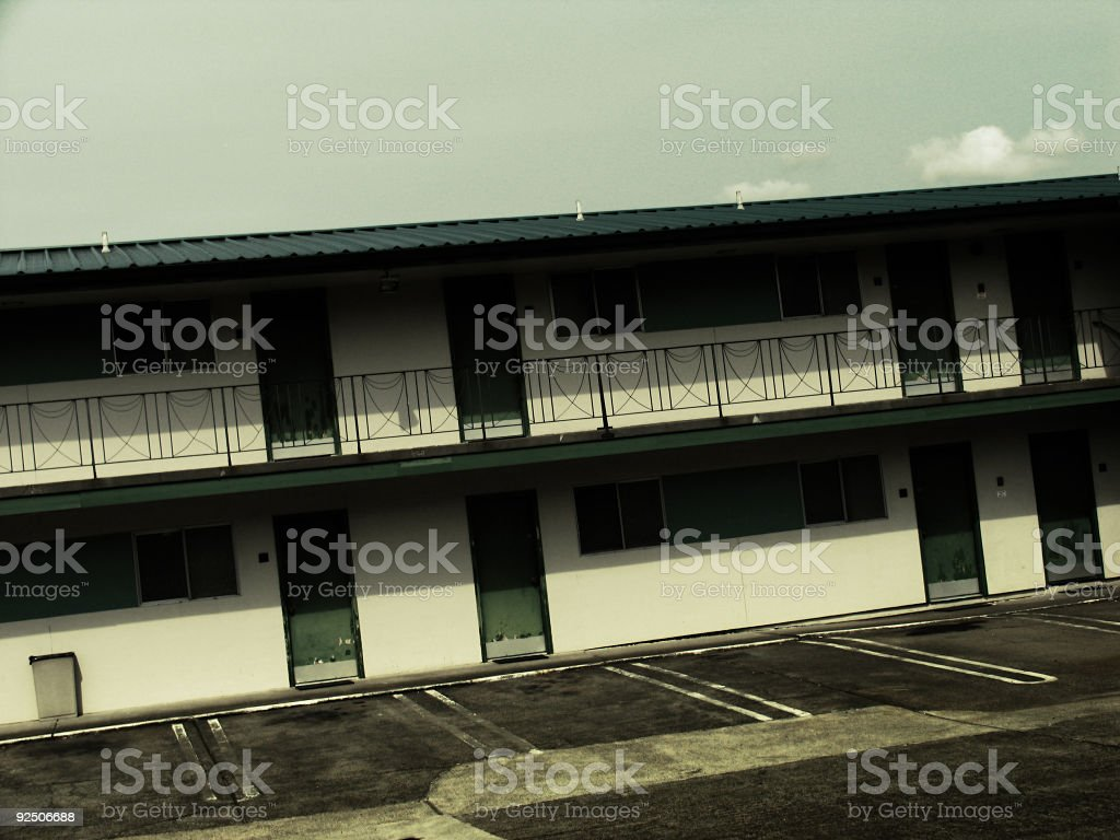 Old Vacant Motel royalty-free stock photo