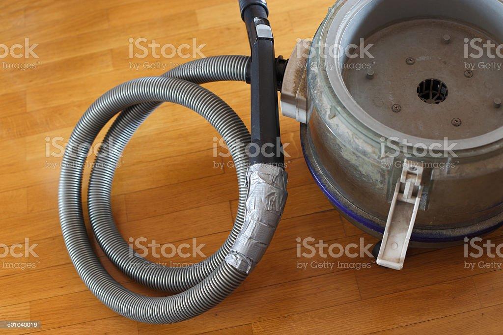 Old vacuum cleaner stock photo