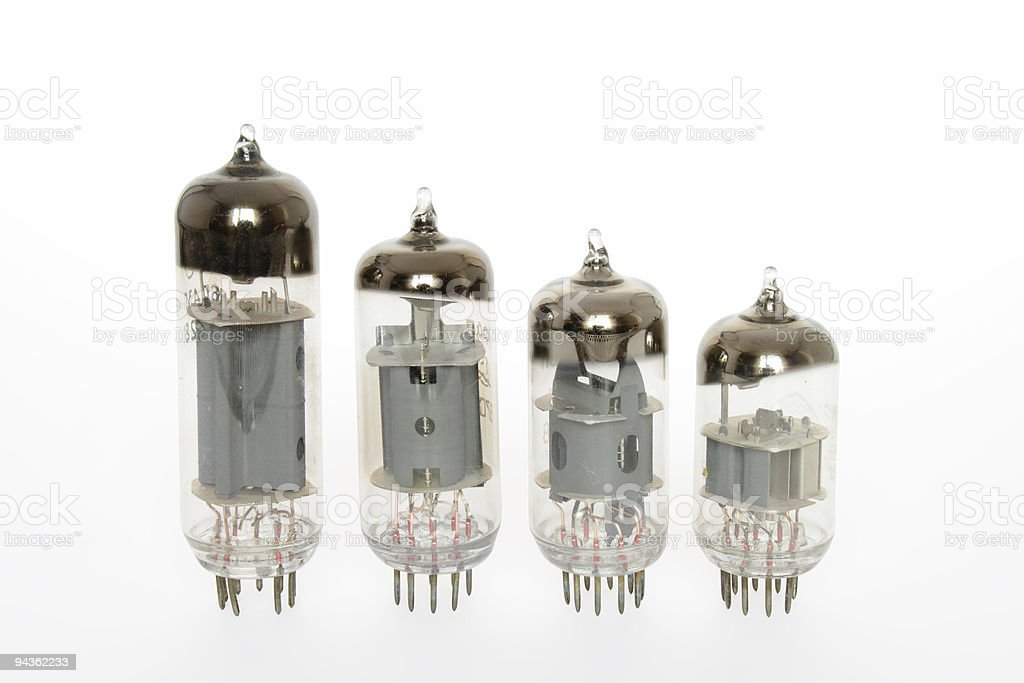 Old vacuum tubes royalty-free stock photo
