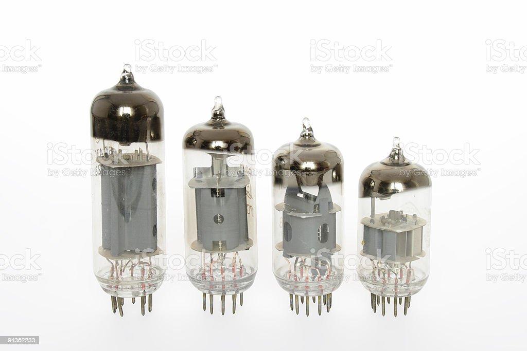 Old vacuum tubes royalty-free stock photo