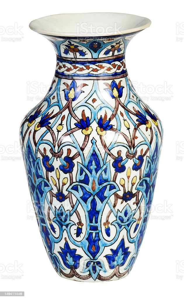 old vase stock photo