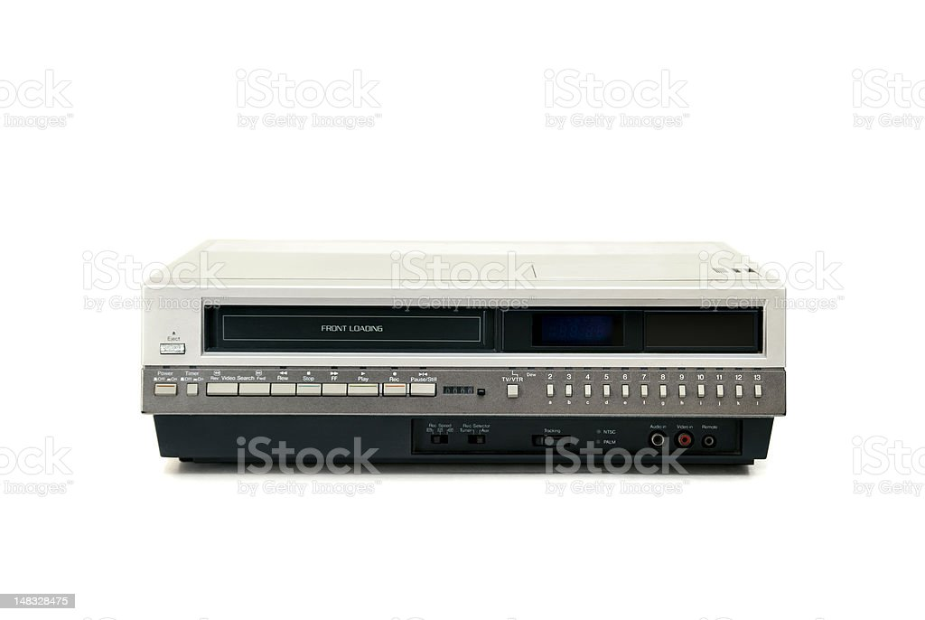 Old VCR - Clipping Path stock photo
