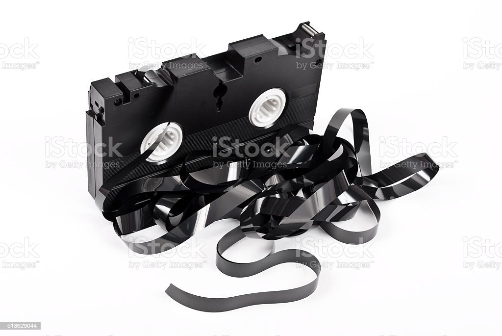 Old VCR tape stock photo
