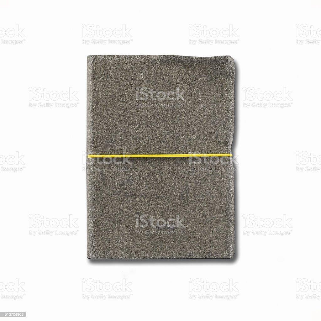 old velvet notebook stock photo
