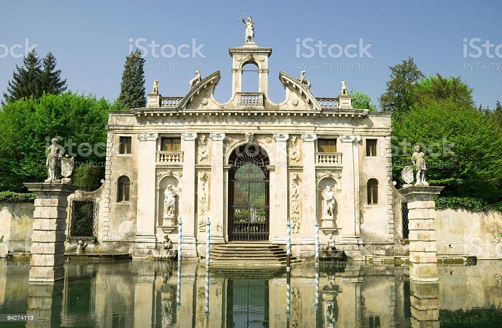 Old Venetian mansion stock photo