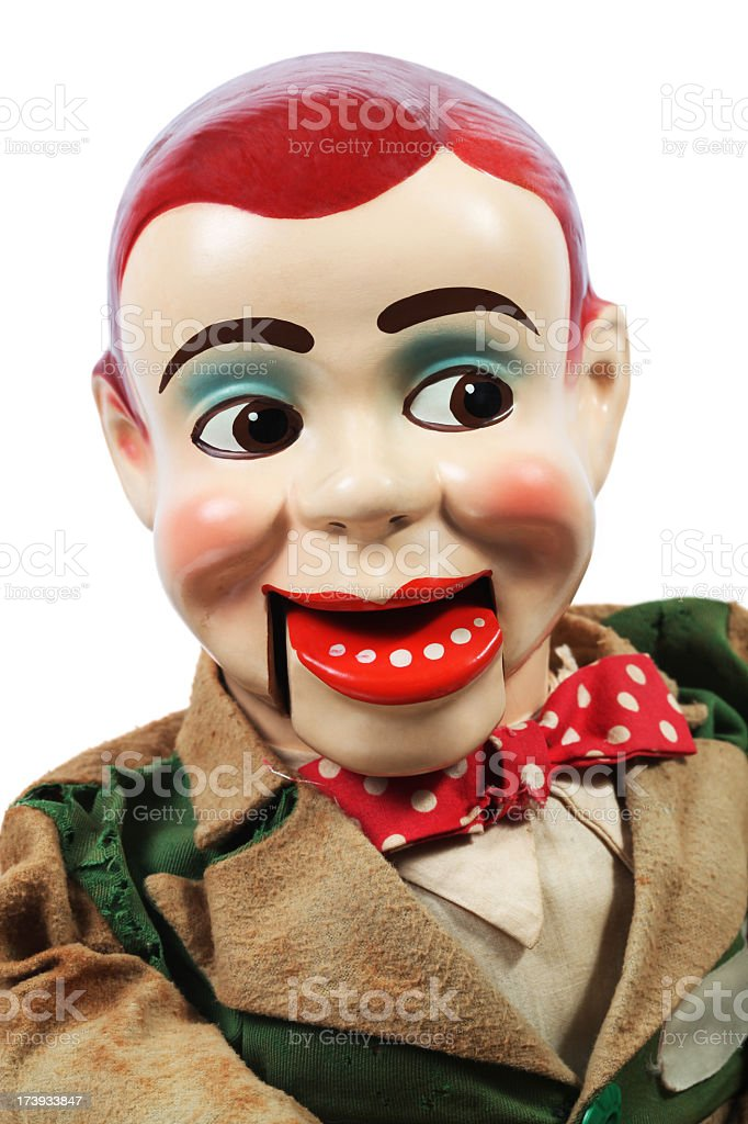 Old Ventriloquist's Dummy stock photo