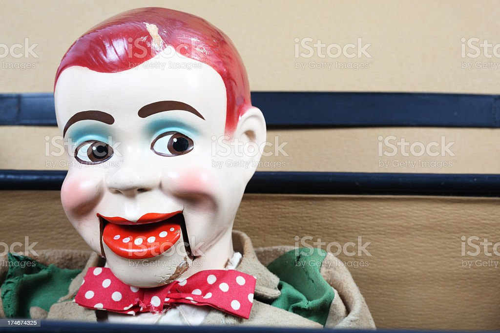 Old Ventriloquist's Dummy royalty-free stock photo