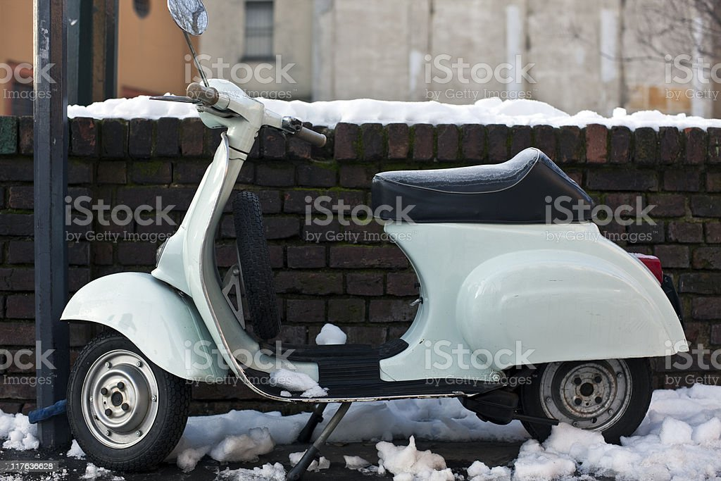 Old Vespa. Color Image stock photo