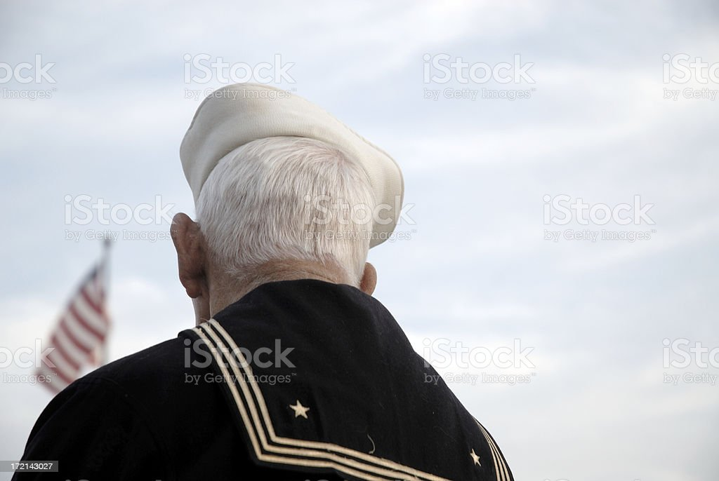 Old Veteran Sailor stock photo