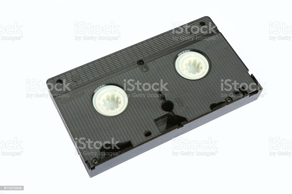 Old VHS Video tape isolated on white background stock photo