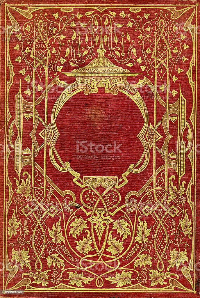Old Victorian Book Cover stock photo