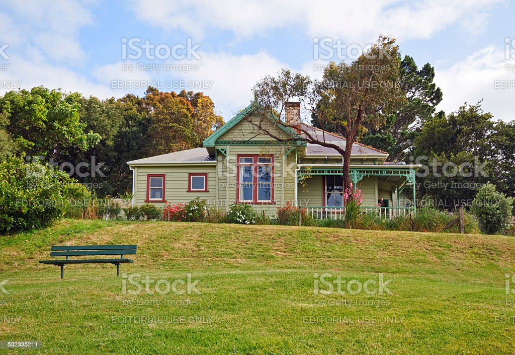 Old victorian house stock photo