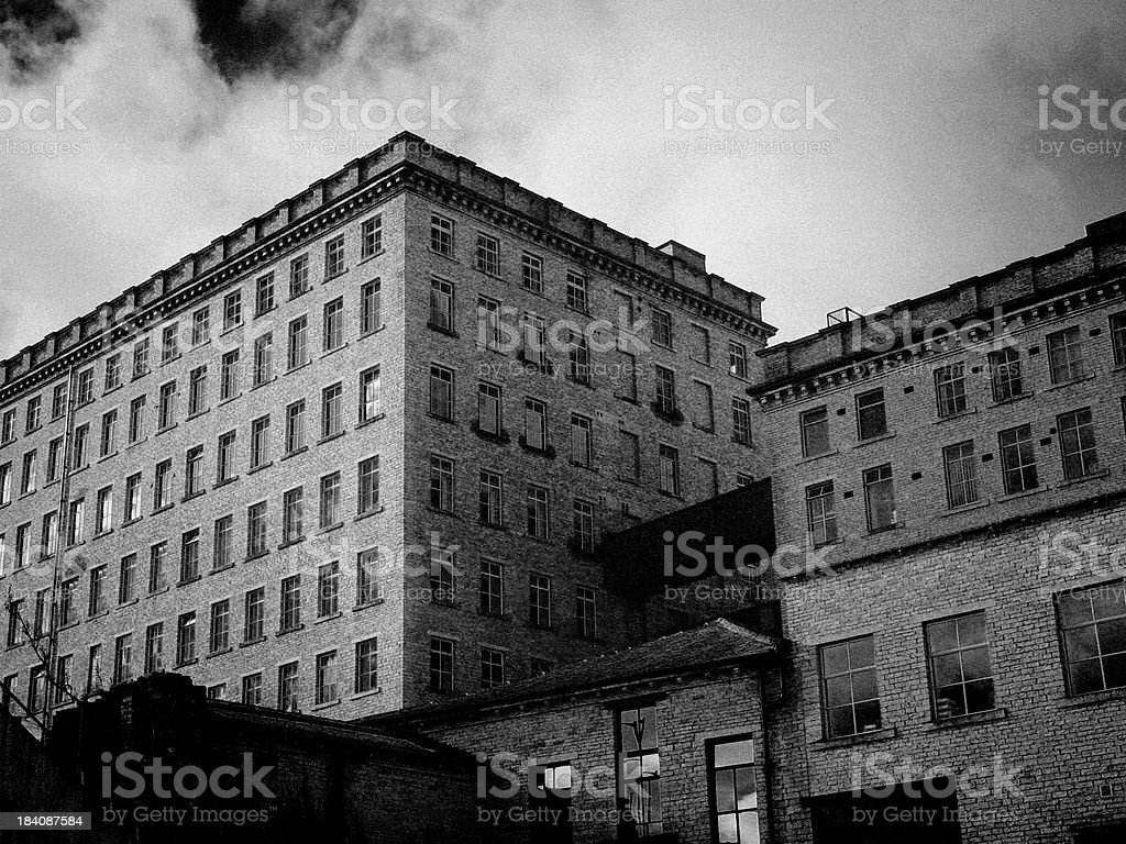 Old Victorian Mill stock photo