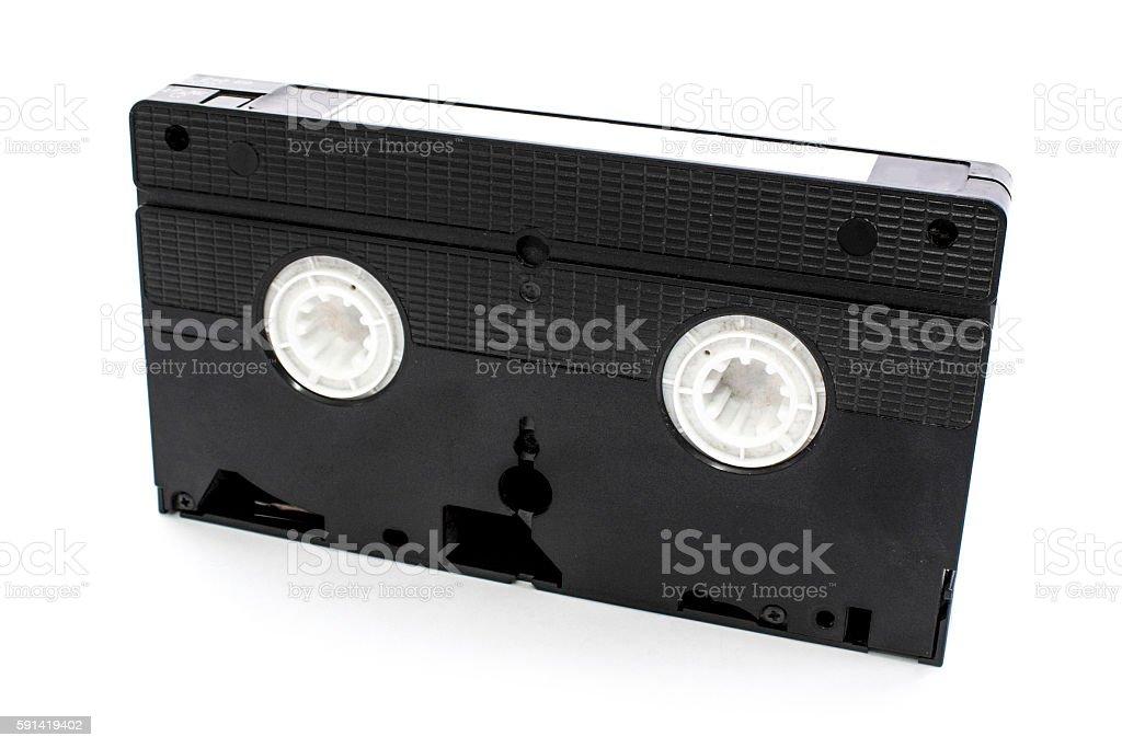 Old video casette tape stock photo