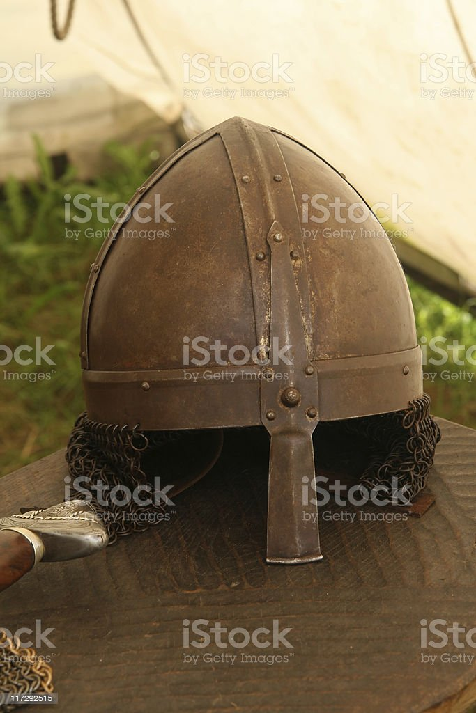 Old viking helmet royalty-free stock photo