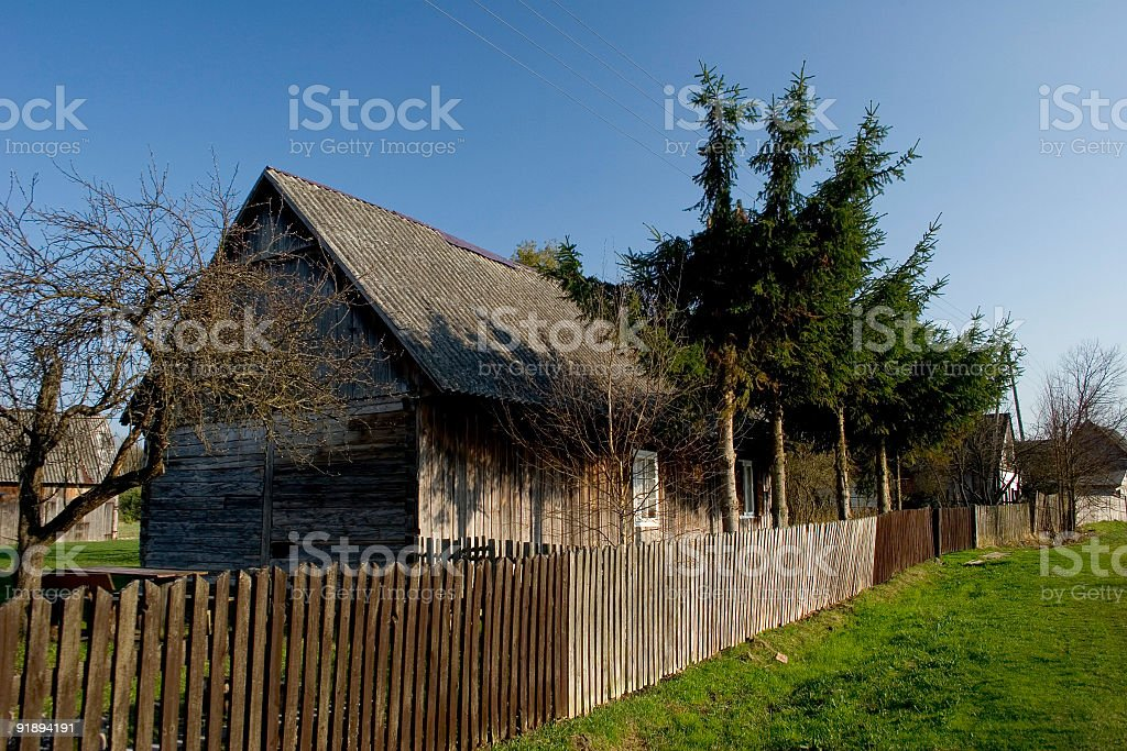 Old village house royalty-free stock photo