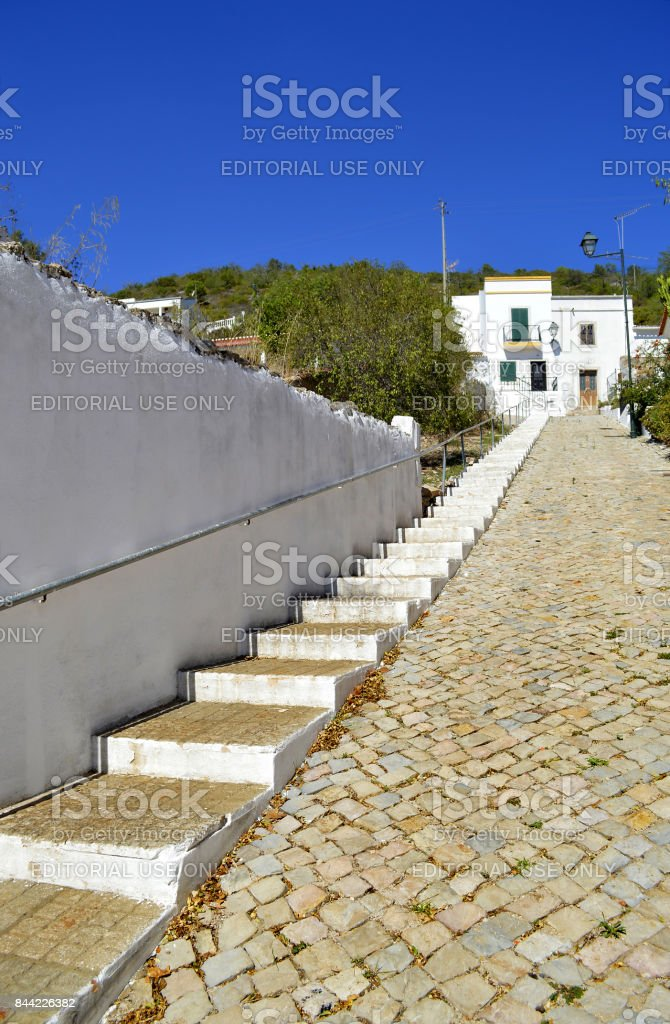 Alte village in Portugal stock photo