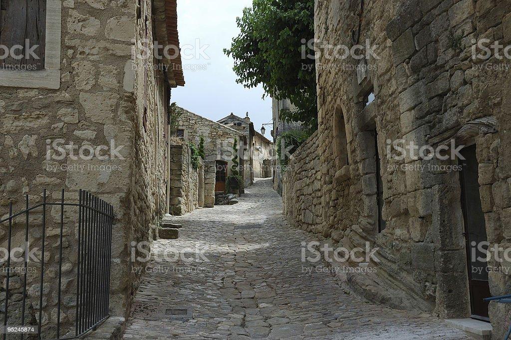 Old Village Lane stock photo