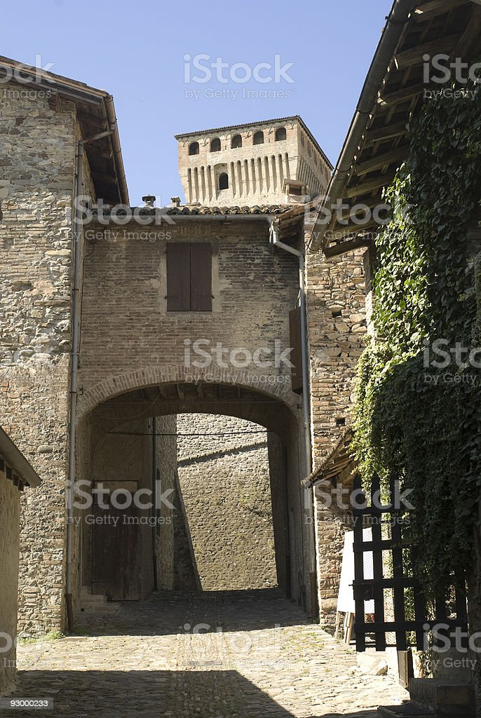 Old village of Torrechiara (Parma, Emilia-Romagna, Italy) royalty-free stock photo