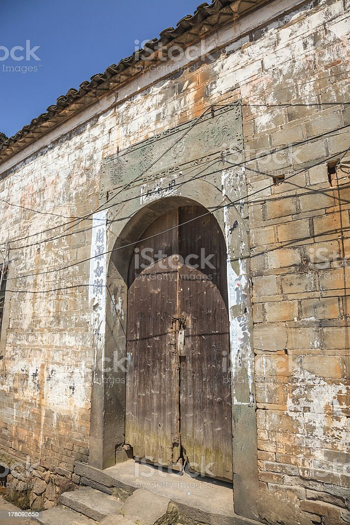 Old village stock photo