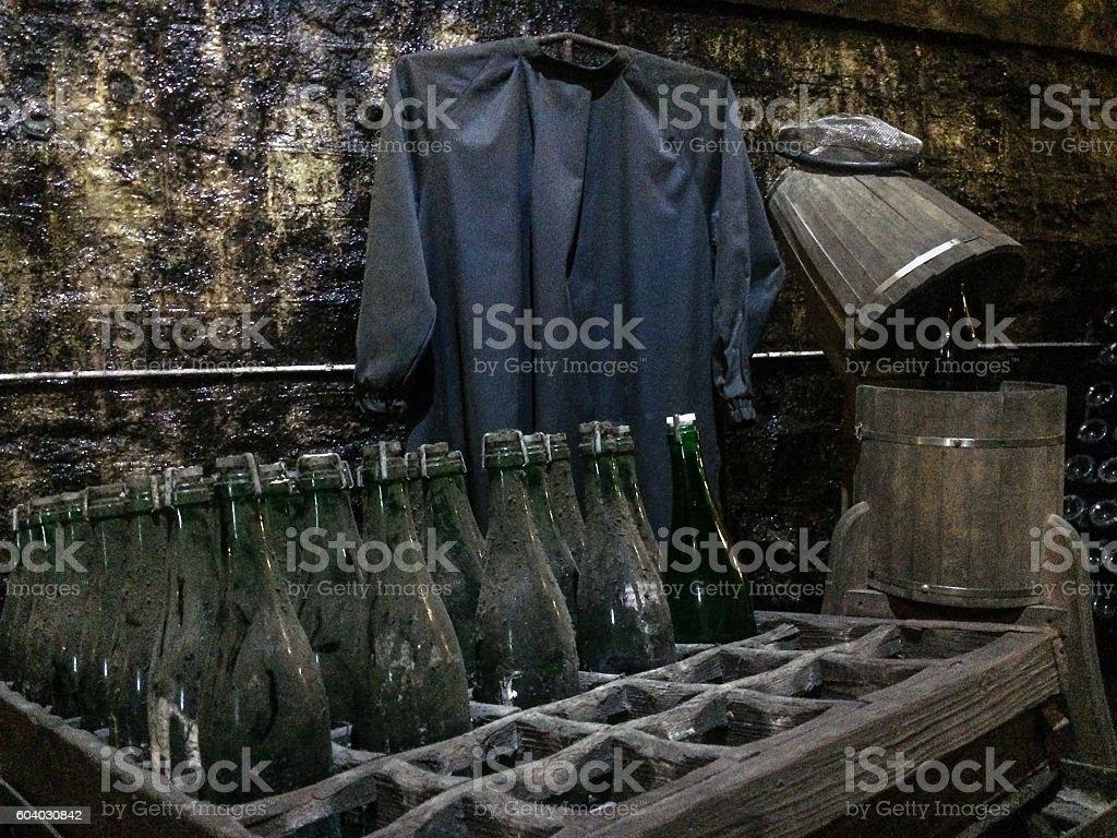old vine cellar stock photo