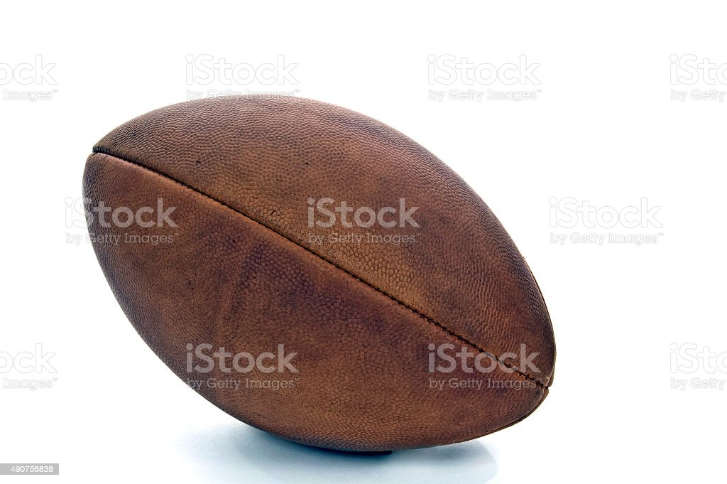 Old Vintage American Football stock photo