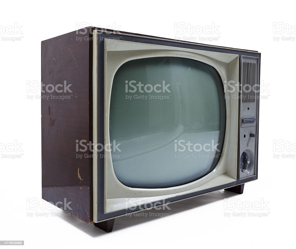 Old vintage analog TV royalty-free stock photo