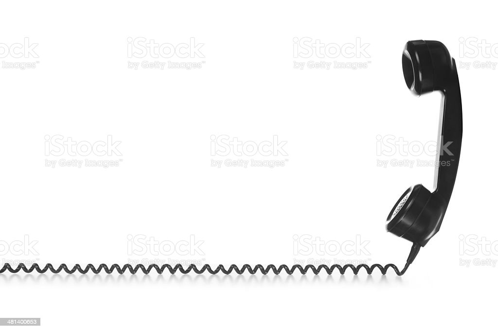 Old Vintage Black Telephone stock photo